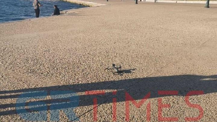 Θεσσαλονίκη: Επιστρατεύτηκε drone για να αδειάσει η παραλία (vid)