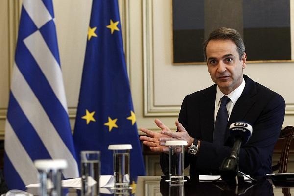 """Μητσοτάκης στην τηλεδιάσκεψη της ΕΕ: """"Οικονομικά μέτρα για ενίσχυση της ρευστότητας"""""""