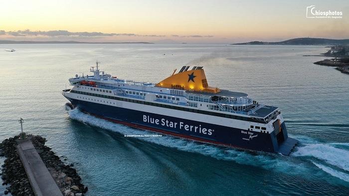 """Αρνητικό το δείγμα για κοροναϊό στον ναυτικό του """"Blue Star Myconos"""""""
