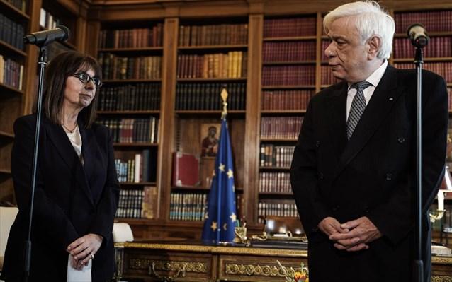 Κ. Σακελλαροπούλου: Να αποκρούσουμε την επιθετικότητα εκείνων που επιβουλεύονται την εθνική μας κυριαρχία