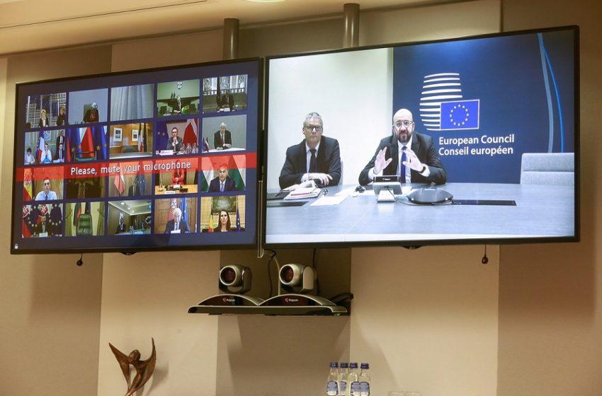 Τηλεδιάσκεψη των ηγετών της ΕΕ: Πρέσινγκ στη Μέρκελ για το corona -bond