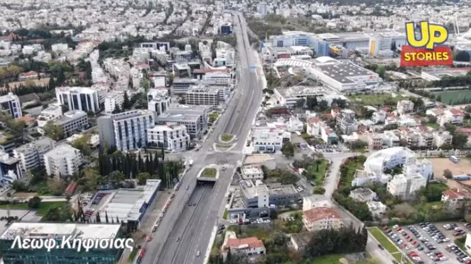 Η άδεια Αθήνα από ψηλά στην εποχή του κοροναϊού