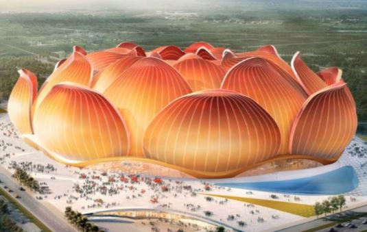 """Η Κίνα ετοιμάζει το πιο """"τρελό"""" γήπεδο ποδοσφαίρου στον κόσμο"""