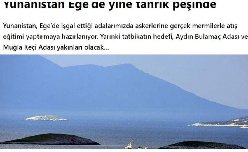 """Τούρκος αρθρογράφος: """"Δικά μας νησιά Ψέριμος και Αγαθονήσι"""""""