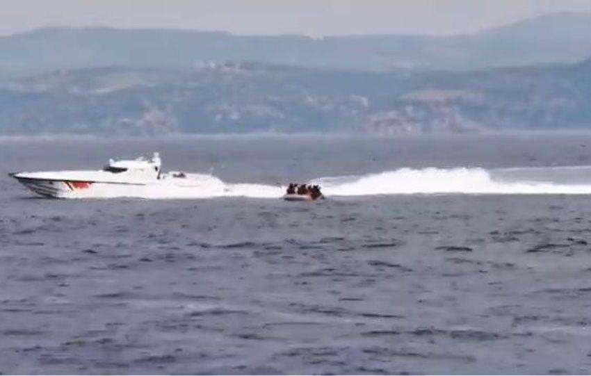 Βίντεο ντοκουμέντο: Τουρκικές ακταιωροί επιχείρησαν να στείλουν μετανάστες στη Μυτιλήνη