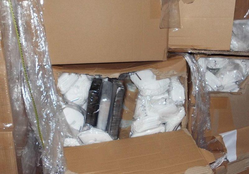 Κατασχέθηκε κοκαΐνη αξίας άνω του 1,3 εκατ. δολαρίων κρυμμένη σε φορτίο με ιατρικές μάσκες
