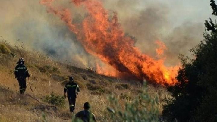 Πυρκαγιά στη Μάνη