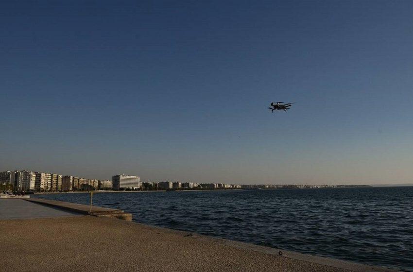 Γίναμε… Κίνα: Drone στην παραλία Θεσσαλονίκης προειδοποιεί τους πολίτες