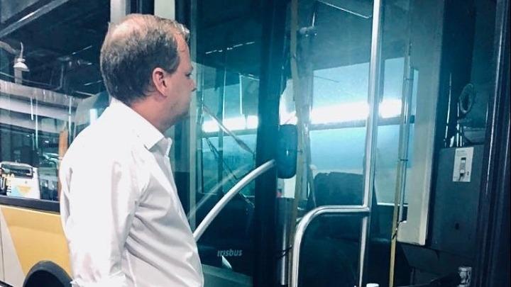 Επίσκεψη Κώστα Αχ. Καραμανλή στο αμαξοστάσιο της ΟΣΥ
