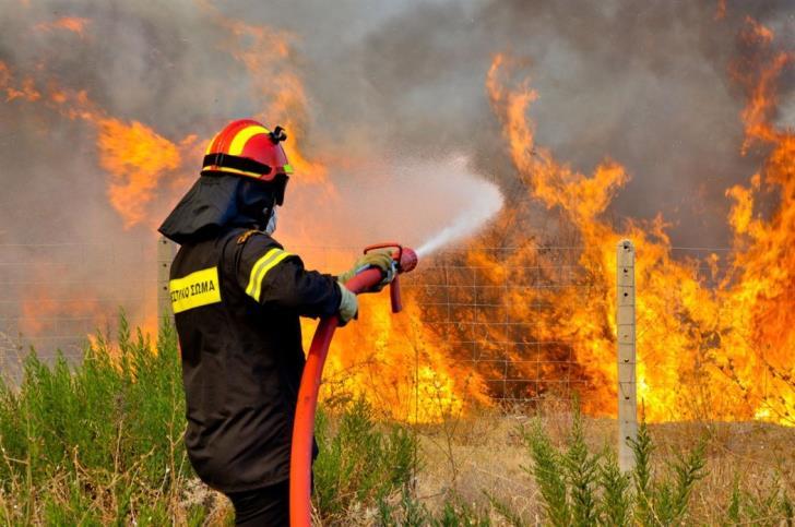 Υπό μερικό έλεγχο η φωτιά στη Μικροκώμη Βόλβης