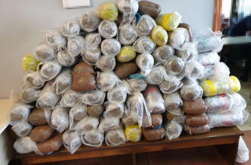 Περισσότερα από 93 κιλά κάνναβης κατασχέθηκαν  στην περιοχή της Βροντισμένης Ιωαννίνων