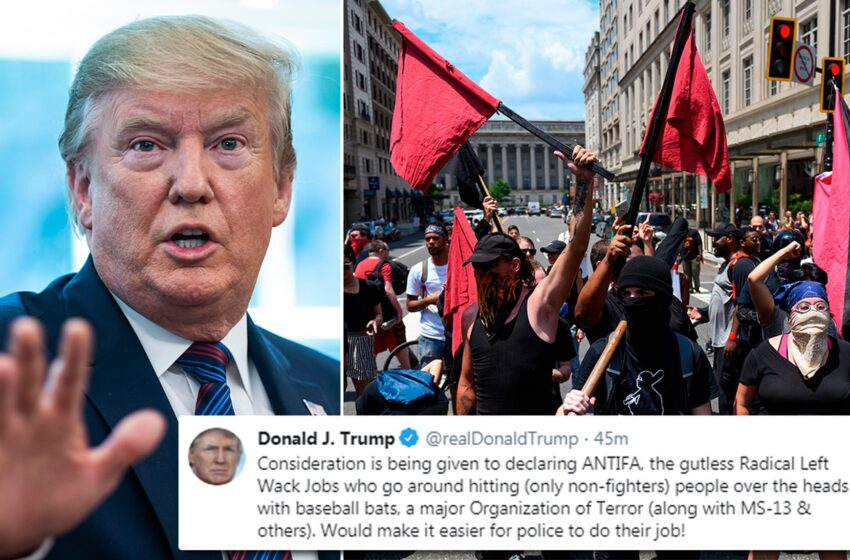 """Παραλήρημα Τραμπ ενώ η Αμερική """"φλέγεται"""": """"Τρομοκρατική οργάνωση"""" το αντιφασιστικό κίνημα"""