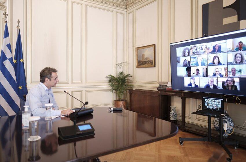 Τηλεδιάσκεψη του Κυρ. Μητσοτάκη με νοσηλευτές στα νοσοκομεία αναφοράς για τον κοροναϊό
