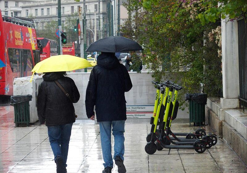 Καιρός με βροχές και πτώση της θερμοκρασίας