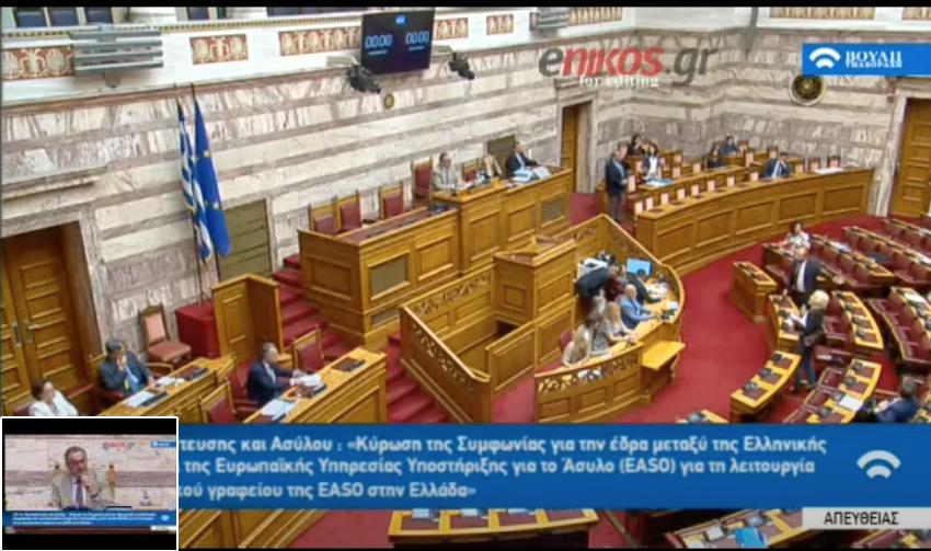 Καβγάς στη Βουλή: Η φωτογραφία της Βούλτεψη με τον Τσίπρα και το ξέσπασμα του Τζανακόπουλου (pic)