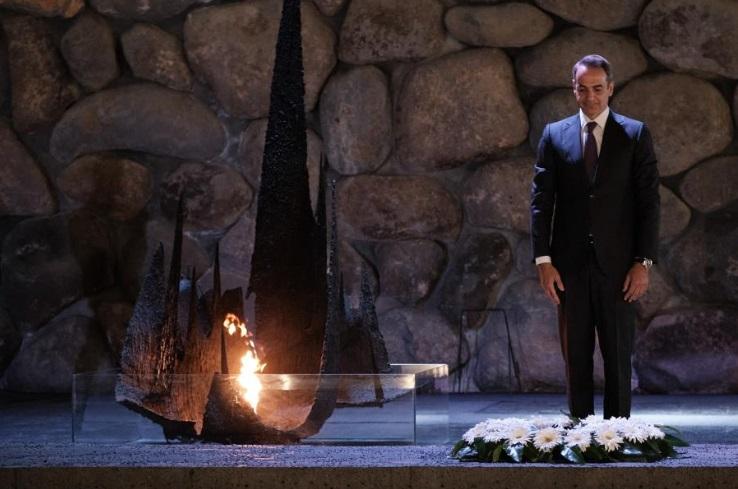 Στο Μνημείο Ολοκαυτώματος ο Κυρ. Μητσοτάκης