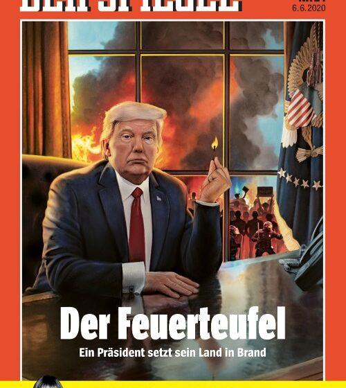 Spiegel: Εξώφυλλο με τον Τραμπ έτοιμο να βάλει φωτιά στις ΗΠΑ