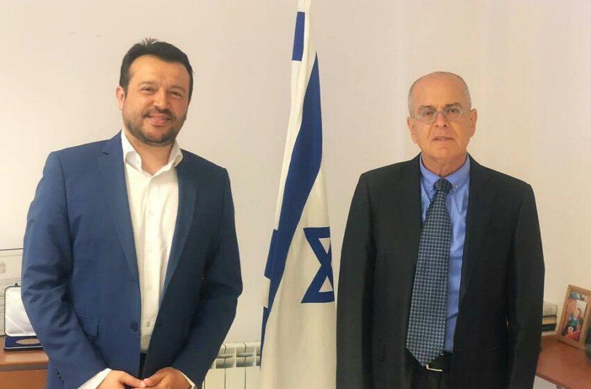 """Συνάντηση με συμβολισμούς: Ο πρέσβης Αμράνι ευχαρίστησε τον Ν.Παππά για την """"δικομματική υποστήριξη"""" στο Ισραήλ!"""