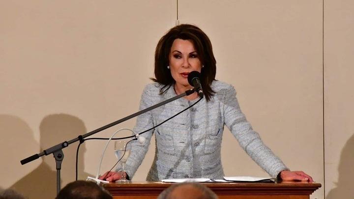 """Στην Καλαμπάκα η πρόεδρος της Επιτροπής """"Ελλάδα 2021"""" Γιάννα Αγγελοπούλου"""