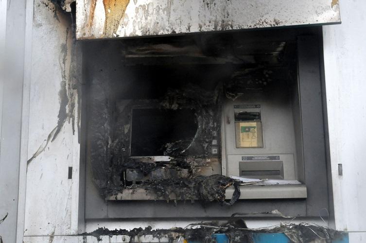 'Αγνωστοι ανατίναξαν ΑΤΜ στο Τριάδι Θεσσαλονίκης