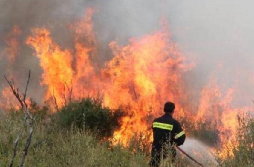 Φωτιά στην Περαχώρα Κορινθίας