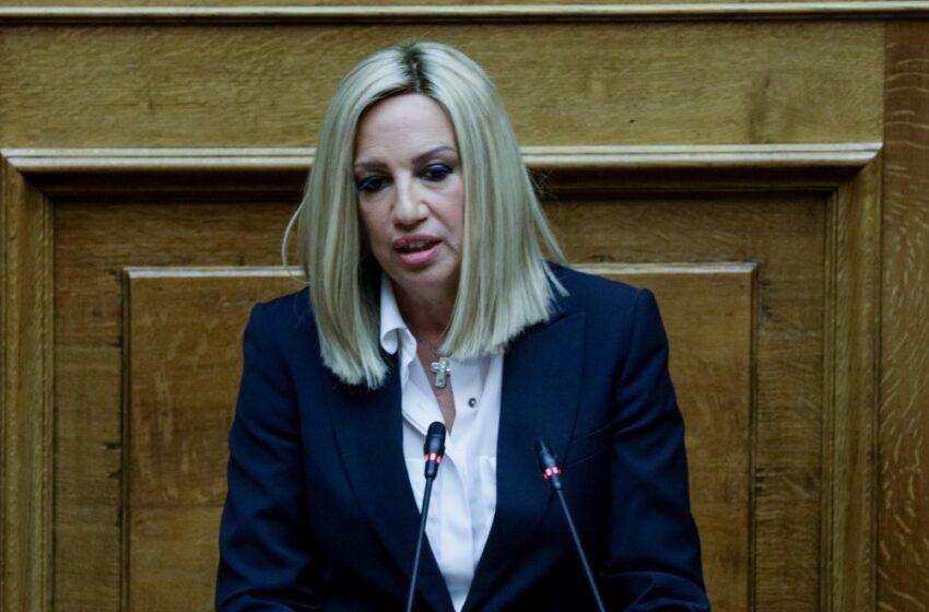 Γεννηματά: Οι υπουργοί αντί να παίρνουν μέτρα, κομπάζουν και αλληλοσυγχαίρονται