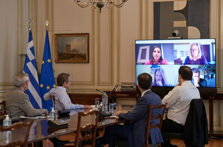 Τηλεδιάσκεψη Κυρ. Μητσοτάκη με τον πρόεδρο της Google Matt Brittin