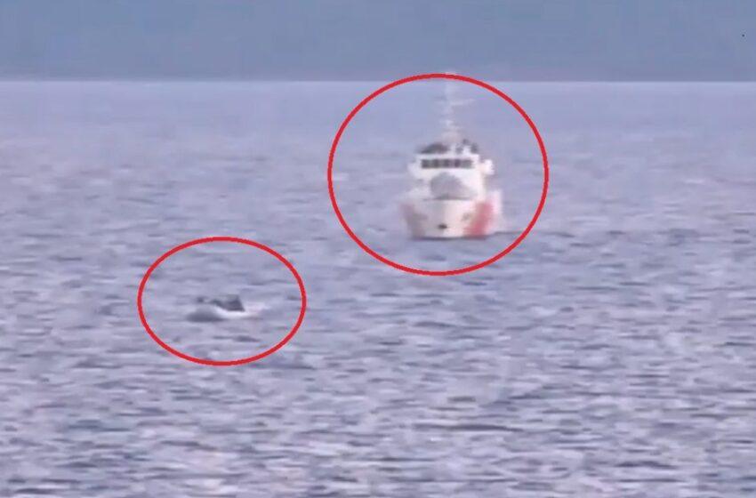 Νέα πρόκληση: Τουρκικές ακταιωροί συνοδεύουν βάρκες με μετανάστες στα ανοιχτά της Λέσβου (βίντεο)