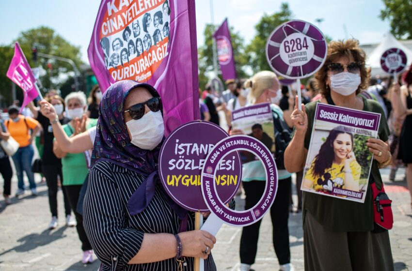 Διαδηλώσεις γυναικών στην Άγκυρα για την υπεράσπιση της Σύμβασης της Κωνσταντινούπολης