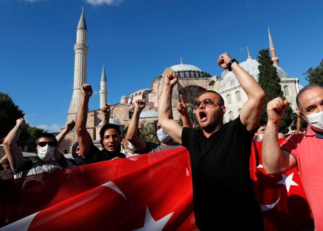 """Αγία Σοφία: Στηρίζουν Ερντογάν Μόσχα και Λονδίνο- Προβληματισμός στην Αθήνα για τις """"χλιαρές"""" διεθνείς αντιδράσεις"""