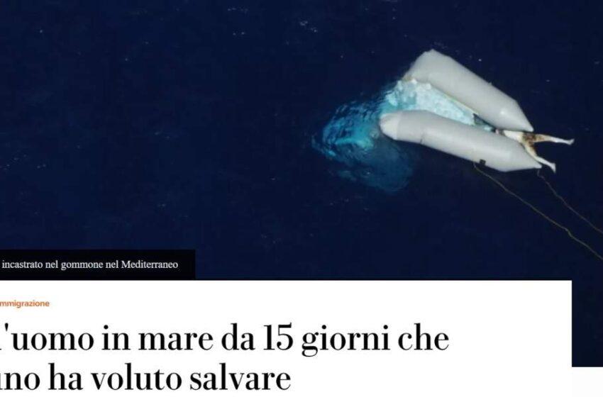 Σοκ στην Ιταλία από φωτογραφία νεκρού μετανάστη στη θάλασσα που δημοσίευσε η La Repubblica