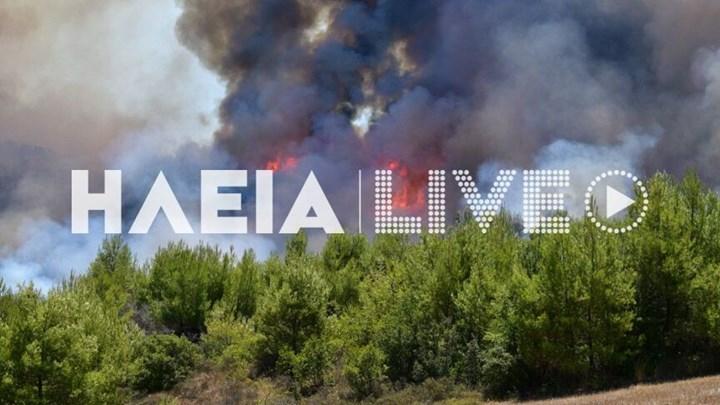 Ανεξέλεγκτη η φωτιά στην Ηλεία – Εκτακτη ανάγκη στην Κορινθία (vid-εικόνες)