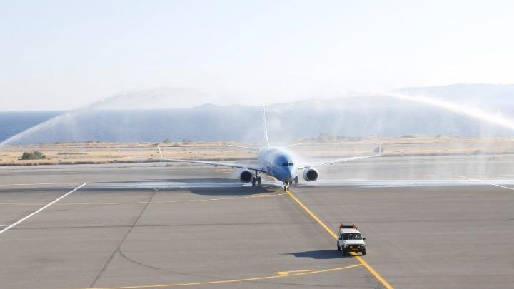 Κρήτη: Υποδοχή με αψίδες στην πρώτη πτήση από Ανόβερο (vid)