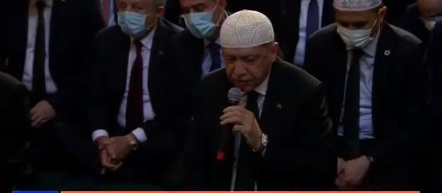 Αγιά Σοφιά: Ο Ερντογάν έψαλε στίχους από το Κοράνι πριν ξεκινήσει επισήμως η προσευχή (vid)
