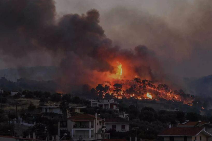 Φωτιά στη Νεμέα Κορινθίας