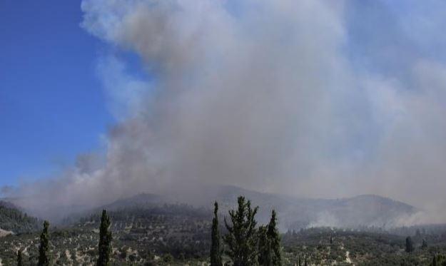 Υπό μερικό έλεγχο η φωτιά στη Ζαχάρω – Μία σύλληψη για εμπρησμό από αμέλεια