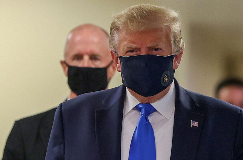 Η πρώτη δημόσια εμφάνιση Τραμπ με μάσκα στη διάρκεια της πανδημίας (φωτογραφίες)