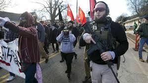 Βαριά οπλισμένοι διαδηλωτές έκαναν πορεία σε πάρκο στην Τζόρτζια των ΗΠΑ