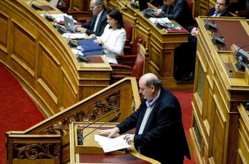Φίλης στη Βουλή για ν/σ Κεραμέως: Ξηλώνετε το μεταπολιτευτικό, δημοκρατικό, συνταγματικό κεκτημένο (vid)