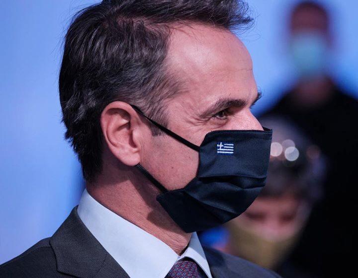 Με μάσκα ο πρωθυπουργός στα social media