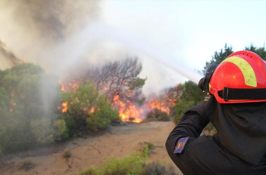 Υπό μερικό έλεγχο η φωτιά στην Επίδαυρο