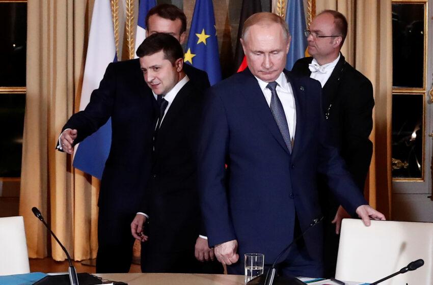 Πούτιν – Ζελένσκι συζήτησαν για τη σύγκρουση στην ανατολική Ουκρανία παραμονή της εκεχειρίας