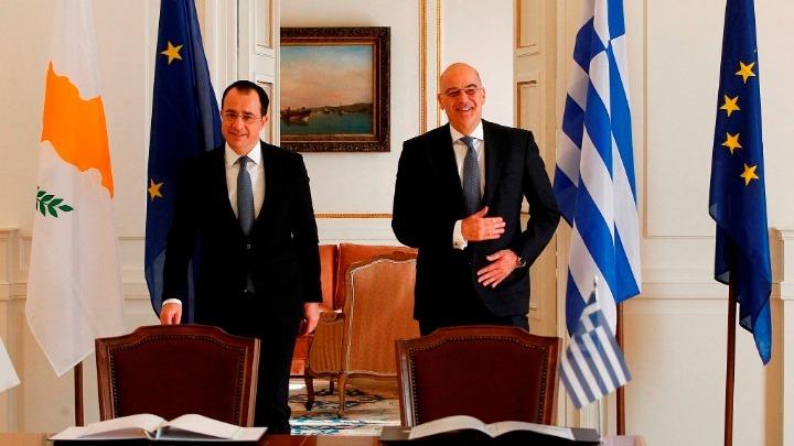 Δένδιας-Χριστοδουλίδης:Ελλάδα και Κύπρος εκπέμπουν ισχύ στην ανατολική Μεσόγειο