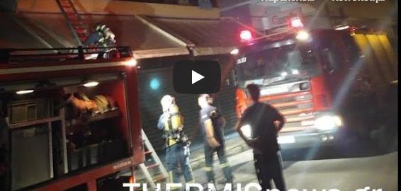 Θεσσαλονίκη: Βίντεο από τη διάσωση 4 ανθρώπων εκ των οποίων ένα βρέφος (vid)