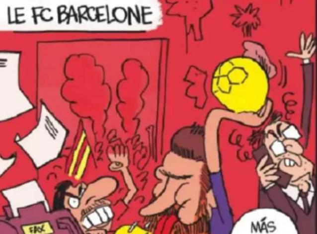 """""""Equipe"""": Μέγα ατόπημα με προσβλητική έως χυδαία γελοιογραφία για Μπαρτσελόνα"""