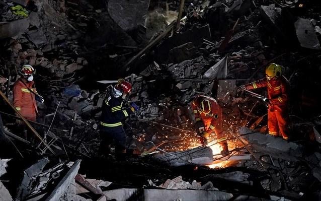 Στους 29 οι νεκροί από την κατάρρευση διώροφου εστιατορίου στην Κίνα
