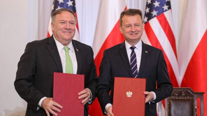 ΗΠΑ και Πολωνία υπέγραψαν τη Συμφωνία Ενισχυμένης Αμυντικής Συνεργασίας