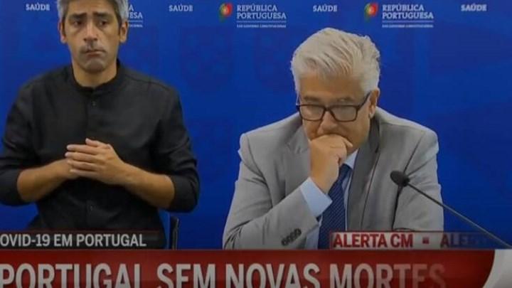Πορτογαλία: Βούρκωσε ο υπουργός Υγείας που ανακοίνωσε για πρώτη φορά… μηδέν νεκρούς (vid)