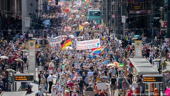Ακροδεξιό μέτωπο κατά των μέτρων για την πανδημία- Μεγάλη διαδήλωση στο Βερολίνο