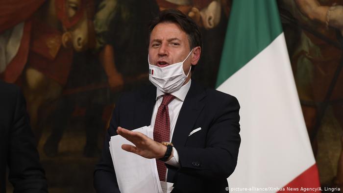 """Νέα """"ένεση"""" 25 δισ από την κυβέρνηση Κόντε για την στήριξη της ιταλικής οικονομίας λόγω πανδημίας"""